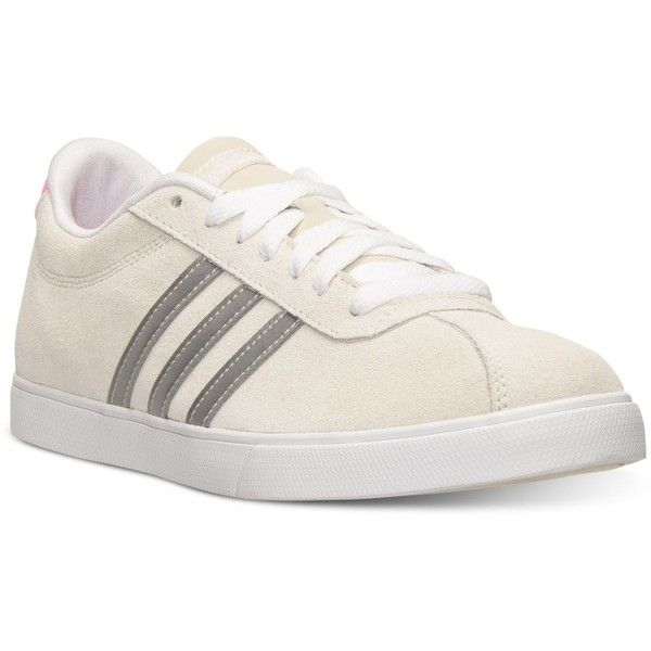 adidas Women's Courtset Casual Sneakers from Finish Line (£29) found on  Polyvore featuring