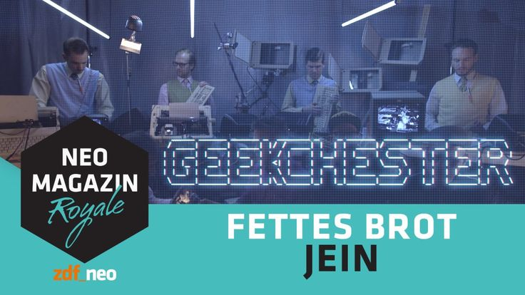 German Hip Hop Band Fettes Brot Performs Along With a Band Playing Old Computer Equipment