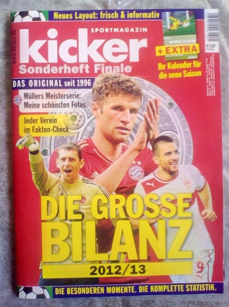"Kicker!SPORTMAGAZIN! "" Sonderheft 2012/13 "" !MIT KALENDER! NEU !"