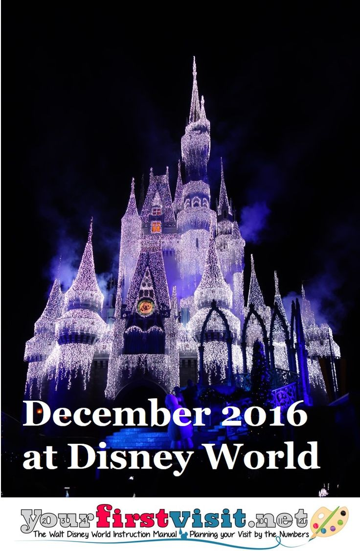 December 2016 at Disney World from yourfirstvisit.net - what to expect in the way of prices, deals, discounts, crowds, weather, and operating hours.