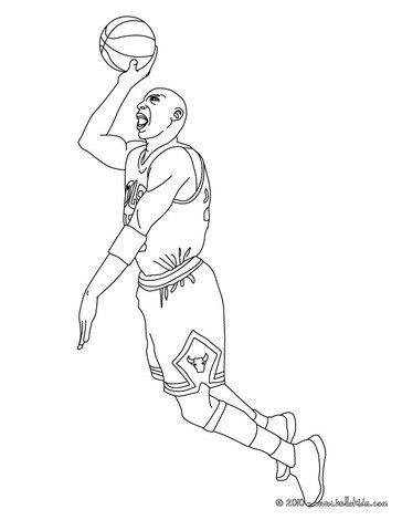 Michael Jordan Coloring Page From Basketball Pages More Sports On Hellokids