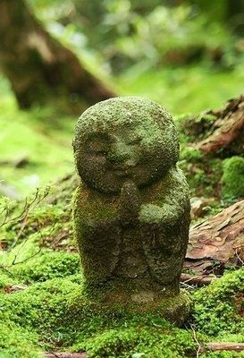 Jizo: a Bodhisattva in Mahayana Buddhism, he is the protector of women, children, and travelers.