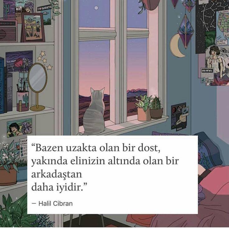 Bazen uzakta olan bir dost, yakında elinizin altında olan bir arkadaştan daha iyidir. - Halil Cibran (Kaynak: Instagram - birazedebiyat) #sözler #anlamlısözler #güzelsözler #manalısözler #özlüsözler #alıntı #alıntılar #alıntıdır #alıntısözler #şiir #edebiyat