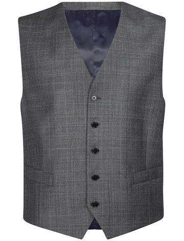 S100 Grey Check Waistcoat