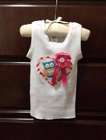 Handmade by Sewing & Alterations by Kimberley Little Lily Owl Tank
