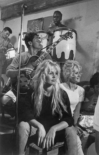 Brigitte Bardot and Sacha Distel, Saint-Tropez, France, by Burt Glinn 1958