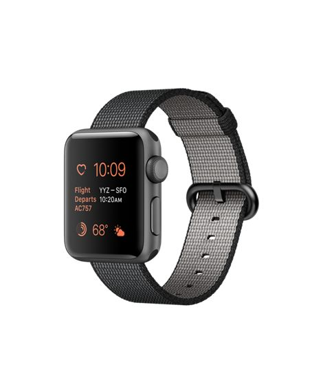 Introducing Apple Watch Series 2 Space Gray Aluminum in 38mm or 42mm with…