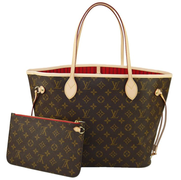 louis vuitton neverfull mm monogram cherry m41177 handbag must have gadgets pinterest. Black Bedroom Furniture Sets. Home Design Ideas