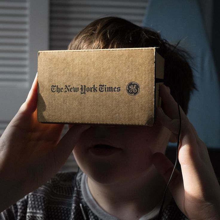 An awesome Virtual Reality pic! The Times included a new virtual reality viewer in its print editions today. Called Google Cardboard it presents content in 360 degrees when paired with a smartphone and the NYT VR app. Wow. #newyorktimes #virtualreality #future #google #nytvr #itworks #photooftheday #googlecardboard by johnpatterson63 check us out: http://bit.ly/1KyLetq