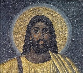 This image of the dark-skinned and black-eyed and haired Jesus is dated 530 CE…