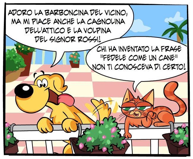Fedeltà canina | Fumetti Gli Inseparabili Friskies (cani, gatti, conigli, animali)