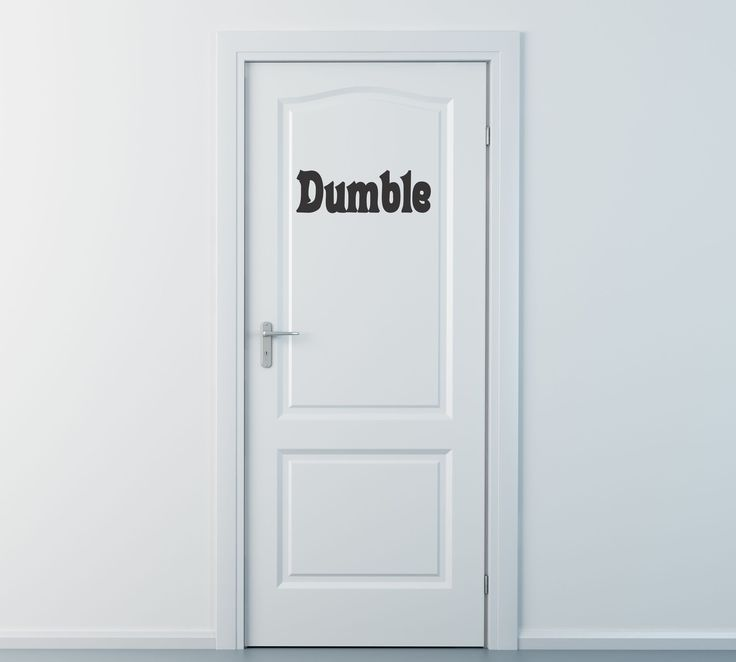 Perfect for any Harry Potter fan...it's our Dumble Door decal. Get it?... Get…