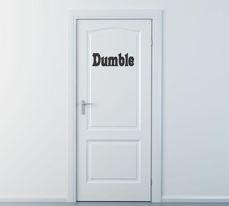 Dumble Door Harry Potter Wall Decal