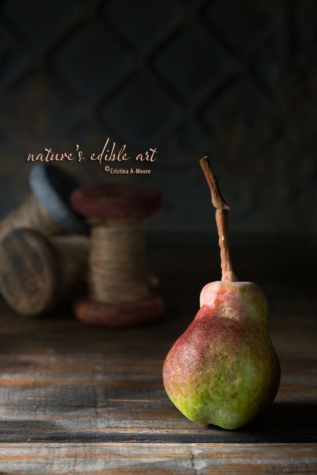 Nature's Edible Art - The Autumn Pear #photography