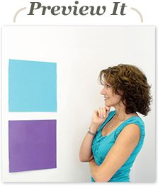 Paint Sample Boards | for trying paint out on your walls, without painting your walls