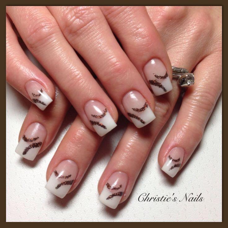 Christie's Corner - white chocolate brown nails