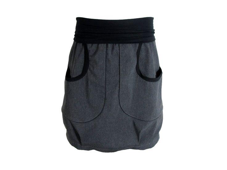 Ballonröcke - Tulpenrock *grau*, Gr. S-L - ein Designerstück von ooskurriloo bei DaWanda