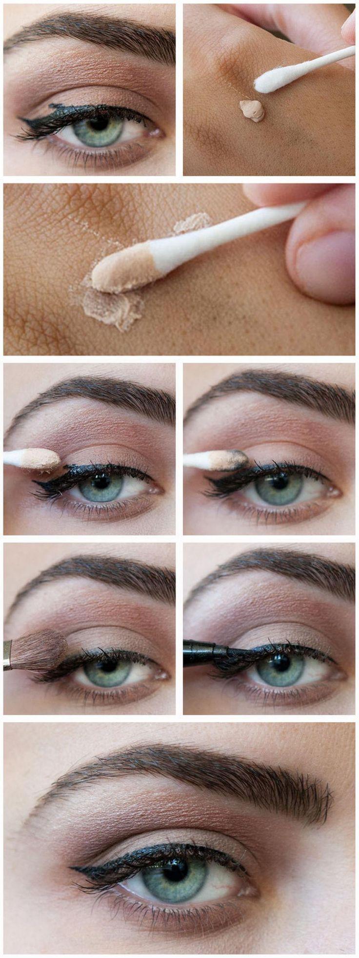 Il faut beaucoup de pratique afin d'être de véritable experte afin de faire de magnifiques traits d'eyeliner. En attendant la pratique, voici quelques petits trucs très utiles que j'ai trouvé pour vous, afin de vous simplifier la vie un peu. 1- Il fa