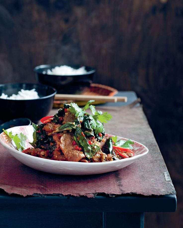 Beef tossed with wild betel leaf and lemongrass by Luke Nguyen from The Food of Vietnam | Cooked