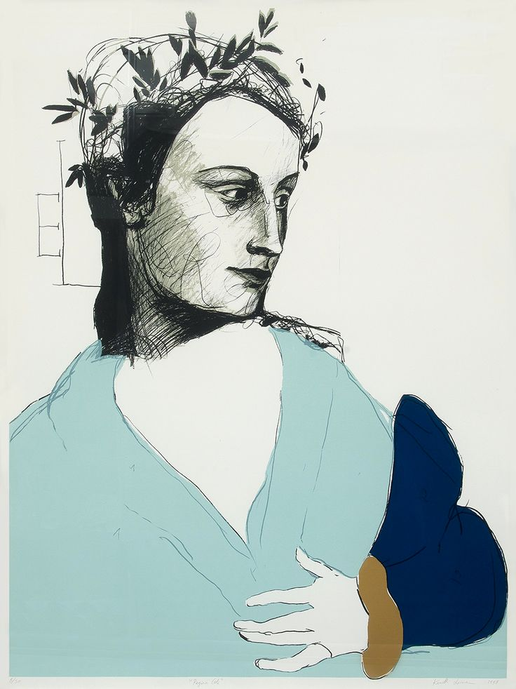 kafkasapartment:  Regina Celi, 1998. Kuutti Lavonen. Serigraph-mixed media.