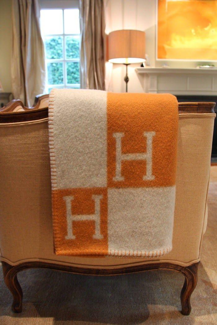 The French Tangerine: ~ hermes avalon blanket