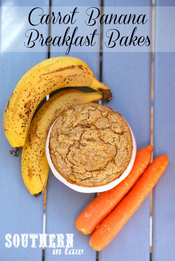Carrot Banana Breakfast Bakes - a healthy breakfast that can be made ahead for busy mornings! The recipe has a vegan option and is gluten free, clean eating friendly, low fat and so delicious!