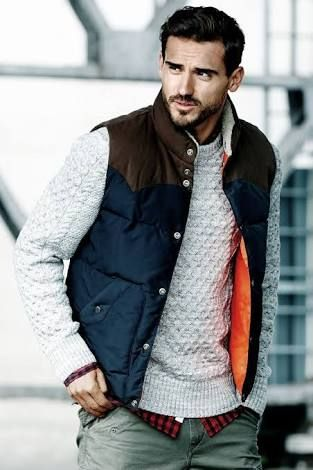 how to wear mens puffer vest - Google Search