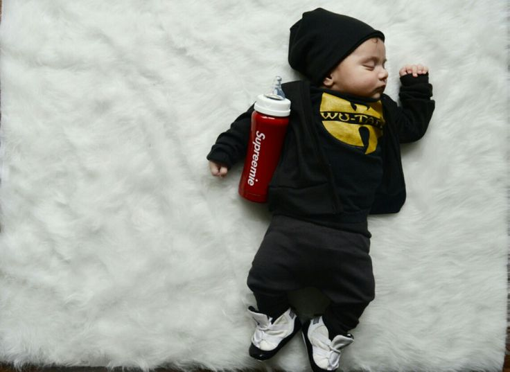 Hand made kids cardigan and beanie. Blossom and Bloom kids. Cute kids clothing. Cute boys clothes. Wutang baby tee. Nike Jordan's. Supreme clothing bottle. Blossomandbloomkids.etsy.com
