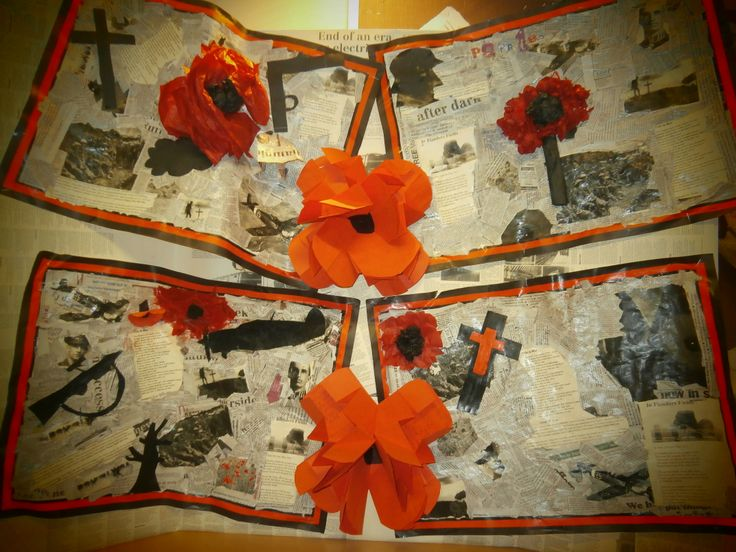 Rememberance day art with poem poppies.