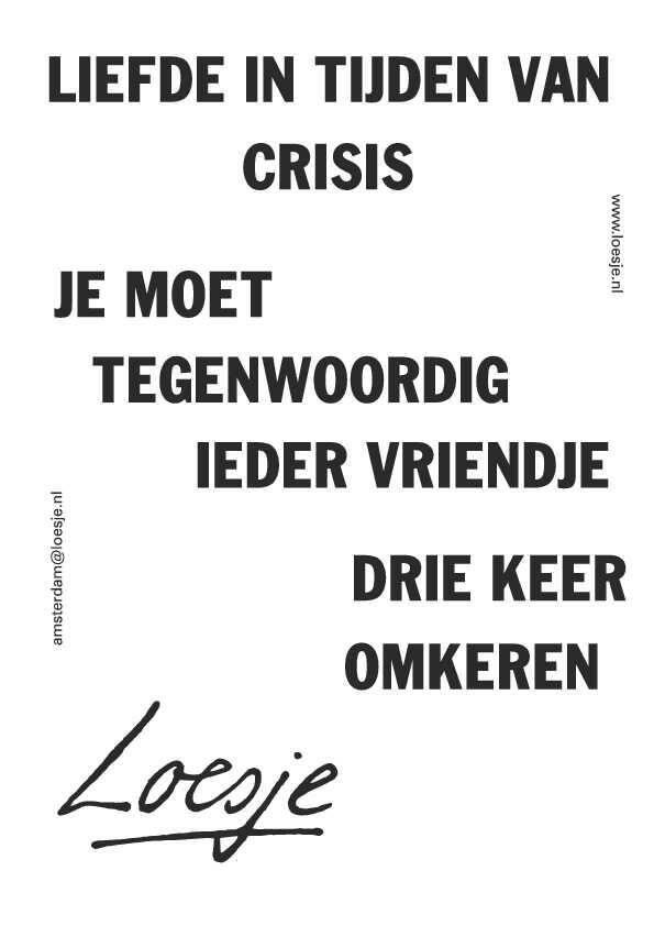 .liefde in tijden van crisis