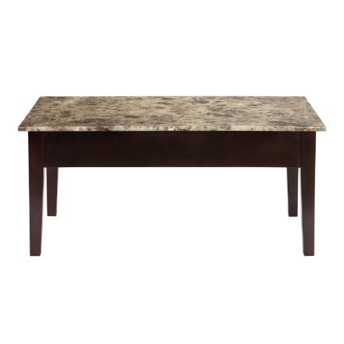 DOREL ASIA FAUX MARBLE LIFT TOP COFFEE TABLE   Click Image Twice For More  Info