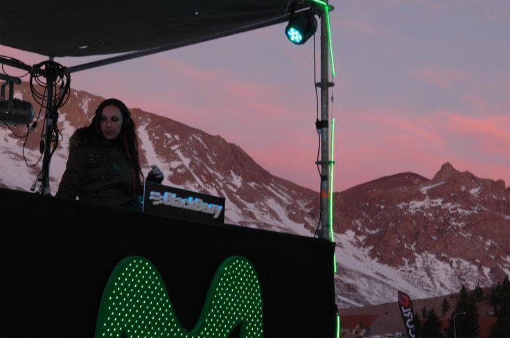 Dj Cata Spinetta en el Movistar Big Weekend #EventosEnComunidad