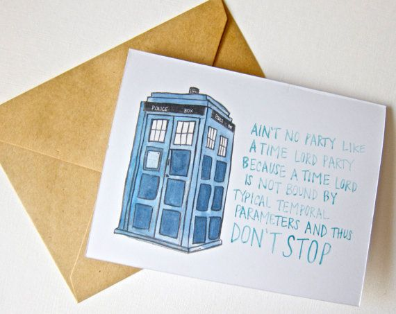 13 Best Dw Card Images On Pinterest Doctor Who Tardis Birthdays