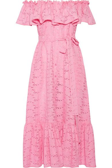 Pink broderie anglaise cotton Button fastenings through front 100% cotton Machine wash