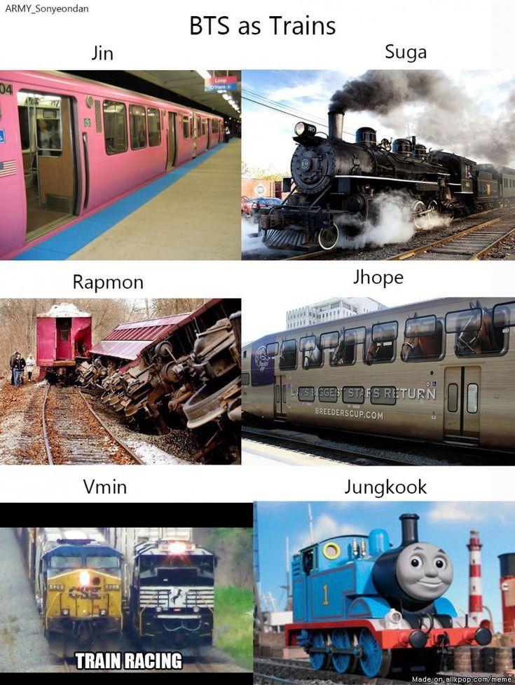 BTS as Trains!