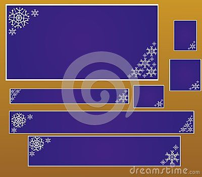 Christmas banners with snowflakes, vector illustration