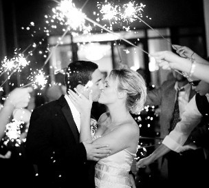 Love the idea of sparklers at a wedding.