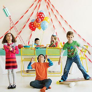For your next birthday bash, bring the circus to town -- complete with acrobatic stunts, midway treats, and lots of clowning around