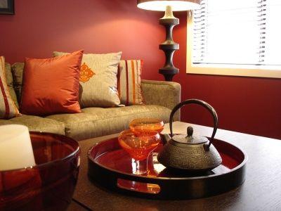 I want maroon living room walls. I like how welcoming this room feels