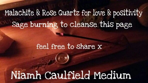 #cleansing #sage #malachite #rosequartz #positivity #love #inscense #niamhcaulfieldmedium