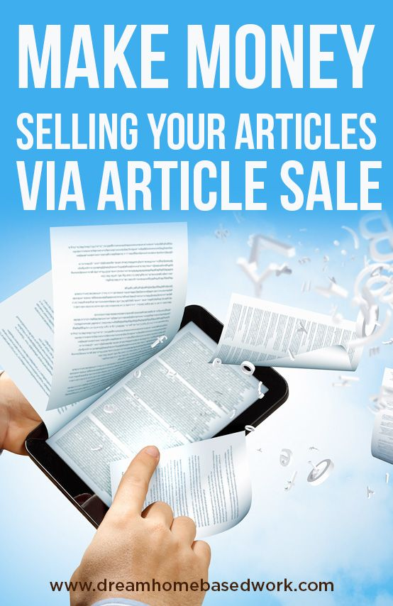 Make Money Selling Your Articles on ArticleSale