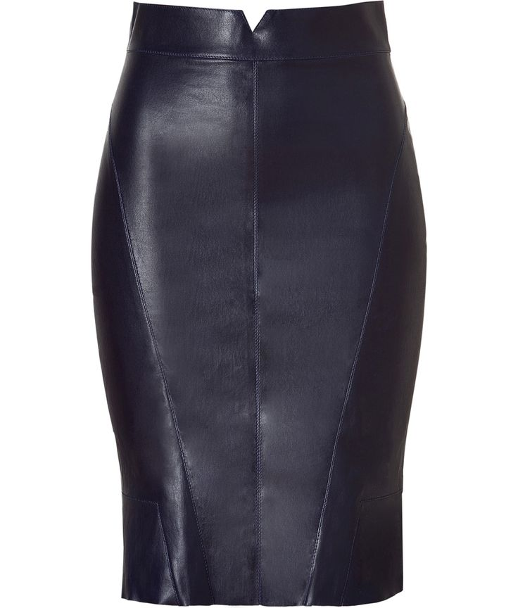 black leather pencil skirt my style