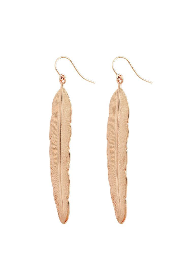 flowing feather earrings