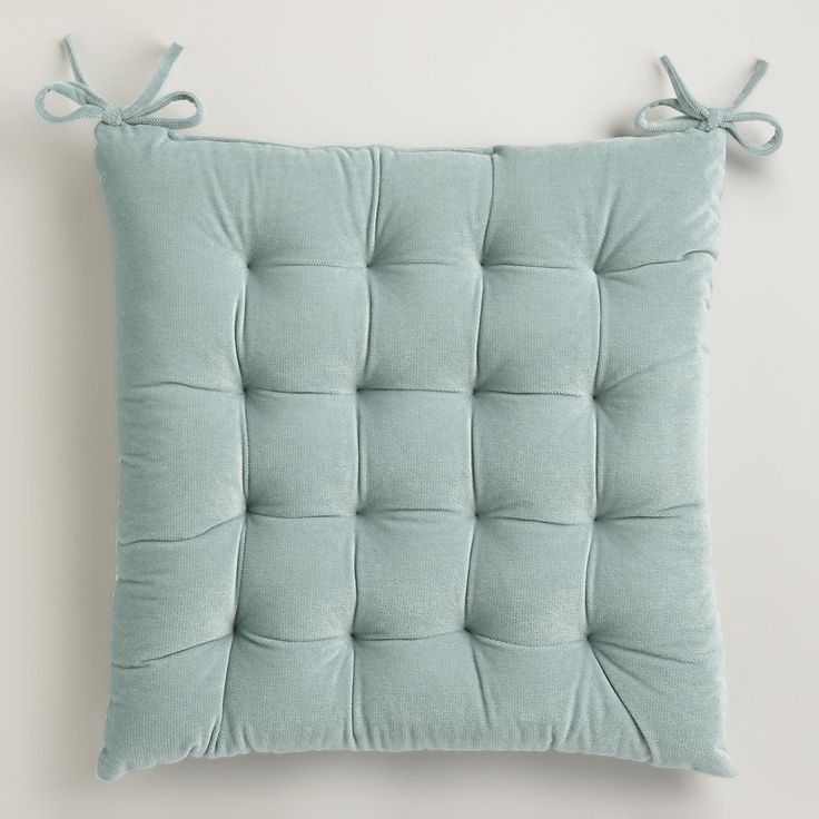 Ocean Blue Velvet Chair Cushion
