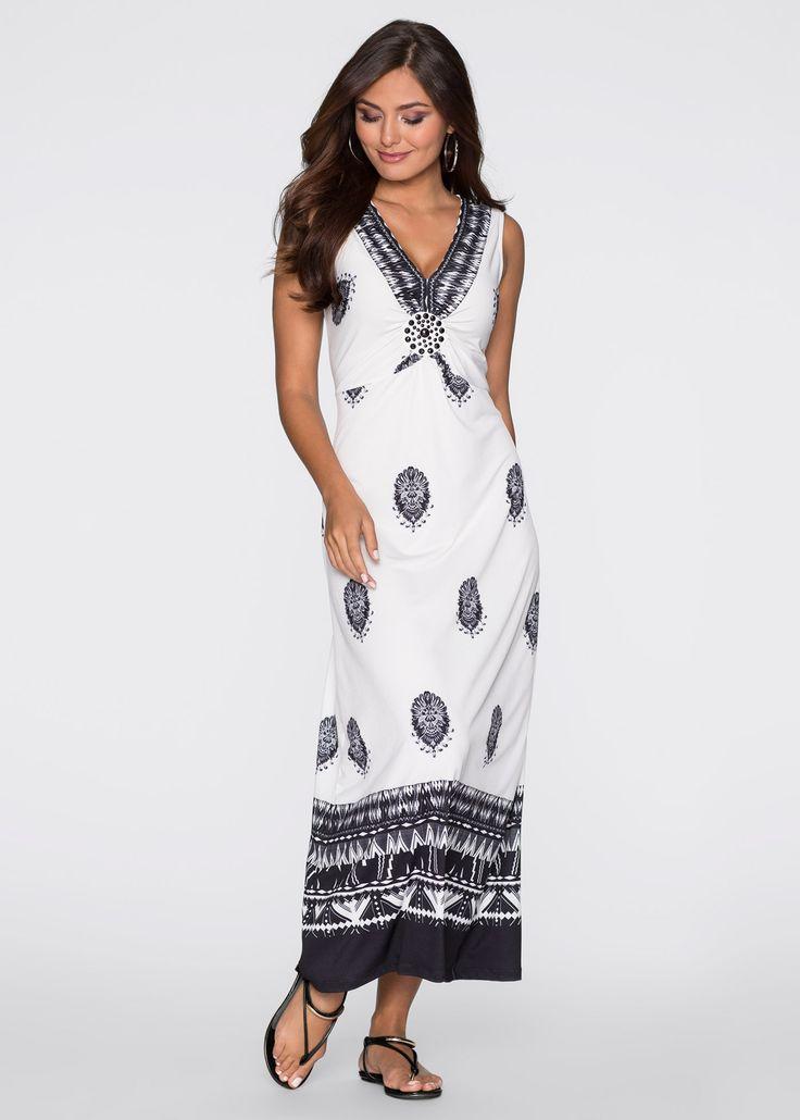 Maxi-jurk wit/zwart gedessineerd - BODYFLIRT nu in de onlineshop van bonprix.nl vanaf ? 39.99 bestellen. Maxi-jurk uit de nieuwe collectie van BODYFLIRT met ...