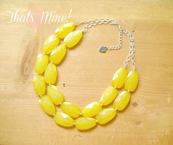 Lemon Yellow statement necklaceYellow lemon by ThatsmineBoutique, $40.00
