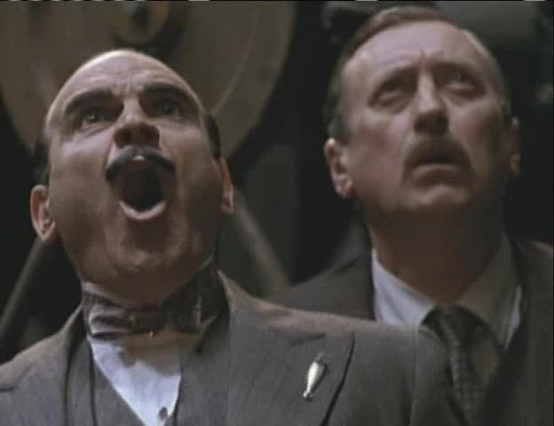 Image result for Poirot with a shocked expression