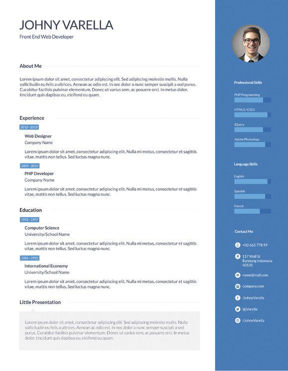 Les 16 meilleures images du tableau Resume Flat ui sur Pinterest - gui designer resume
