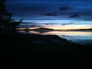 A beautiful view over Östersund at midnight earlier this year.