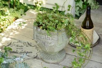 ○。英国アンティーク・石のプランターポット/フラワー/花器/庭